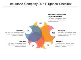 Insurance Company Due Diligence Checklist Ppt Powerpoint Presentation Microsoft Cpb