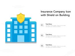 Insurance Company Icon With Shield On Building