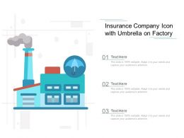 Insurance Company Icon With Umbrella On Factory
