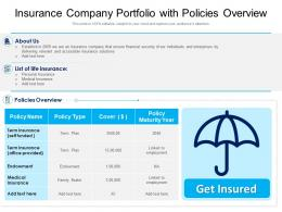 Insurance Company Portfolio With Policies Overview