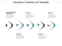 Insurance Contents List Template Ppt Powerpoint Presentation Gallery Display Cpb