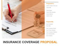 Insurance Coverage Proposal Powerpoint Presentation Slides