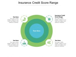 Insurance Credit Score Range Ppt Powerpoint Presentation Professional Ideas Cpb