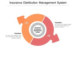 Insurance Distribution Management System Ppt Powerpoint Presentation Styles Show Cpb