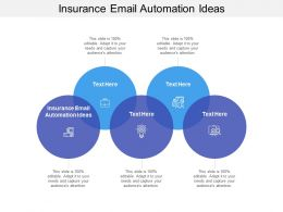 Insurance Email Automation Ideas Ppt Powerpoint Presentation Infographics Layouts Cpb