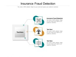 Insurance Fraud Detection Ppt Powerpoint Presentation Outline Deck Cpb