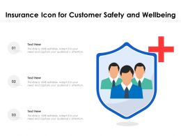 Insurance Icon For Customer Safety And Wellbeing