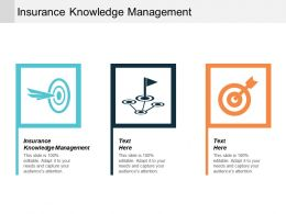 Insurance Knowledge Management Ppt Powerpoint Presentation Styles Icon Cpb