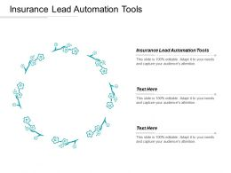 Insurance Lead Automation Tools Ppt Powerpoint Presentation Infographic Template Sample Cpb