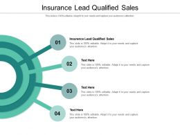 Insurance Lead Qualified Sales Ppt Powerpoint Presentation Infographics Introduction Cpb