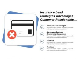 Insurance Lead Strategies Advantages Customer Relationship Management Cpb