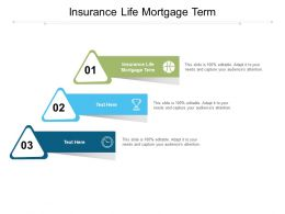 Insurance Life Mortgage Term Ppt Powerpoint Icon Format Ideas Cpb
