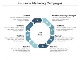 Insurance Marketing Campaigns Ppt Powerpoint Presentation Portfolio Introduction Cpb