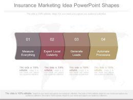 Insurance Marketing Idea Powerpoint Shapes