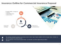 Insurance Outline For Commercial Insurance Proposal Ppt Powerpoint Presentation Files
