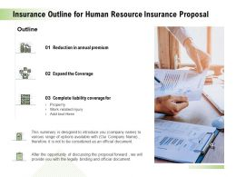 Insurance Outline For Human Resource Insurance Proposal Ppt Pictures