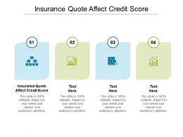 Insurance Quote Affect Credit Score Ppt Powerpoint Presentation Pictures Portfolio Cpb