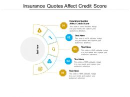 Insurance Quotes Affect Credit Score Ppt Powerpoint Presentation Inspiration Deck Cpb