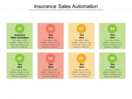 Insurance Sales Automation Ppt Powerpoint Presentation Gallery Designs Download Cpb