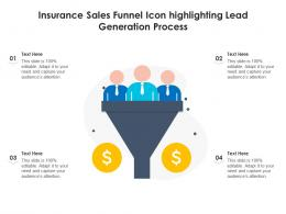 Insurance Sales Funnel Icon Highlighting Lead Generation Process