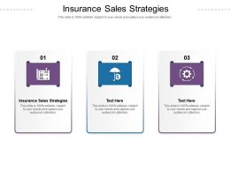 Insurance Sales Strategies Ppt Powerpoint Presentation Gallery Visuals Cpb