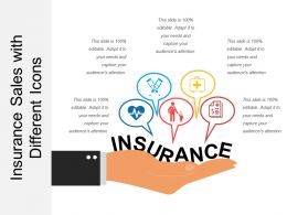 Insurance Sales With Different Icons