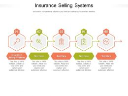 Insurance Selling Systems Ppt Powerpoint Presentation Infographics Guide Cpb