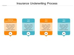 Insurance Underwriting Process Ppt Powerpoint Presentation Model Deck Cpb