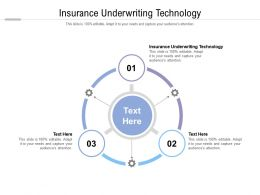 Insurance Underwriting Technology Ppt Powerpoint Presentation File Sample Cpb