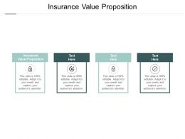 Insurance Value Proposition Ppt Powerpoint Presentation Ideas Outline Cpb