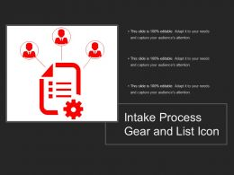 Intake Process Gear And List Icon
