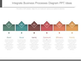 Integrate Business Processes Diagram Ppt Ideas