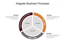 Integrate Business Processes Ppt Powerpoint Presentation Gallery Graphic Tips Cpb
