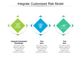 Integrate Customized Risk Model Ppt Powerpoint Presentation Pictures Guidelines Cpb