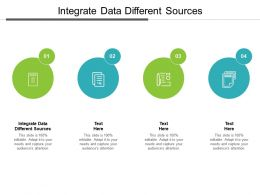 Integrate Data Different Sources Ppt Powerpoint Presentation Infographics Images Cpb