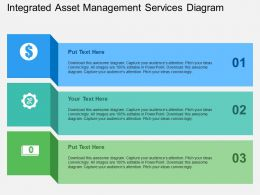 Integrated Asset Management Services Diagram Flat Powerpoint Design