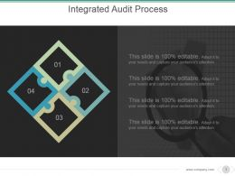 Integrated Audit Process Powerpoint Slide Deck Samples