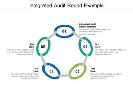 Integrated Audit Report Example Ppt Powerpoint Presentation File Example Cpb