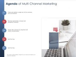 Integrated B2C Marketing Approach Agenda Of Multi Channel Marketing Ppt Pictures Graphics Download