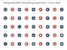 Integrated B2C Marketing Approach Icons Slide Ppt Designs Portfolio Background