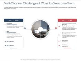 Integrated B2C Marketing Approach Multi Channel Challenges And Ways To Overcome Them Ppt Show