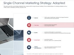 Integrated B2C Marketing Approach Single Channel Marketing Strategy Adopted Ppt Microsoft