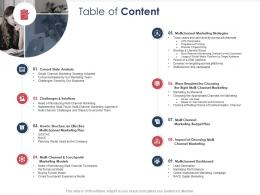 Integrated B2C Marketing Approach Table Of Content Ppt Outline Maker