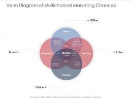 Integrated B2C Marketing Approach Venn Diagram Of Multichannel Marketing Channels Ppt Grid