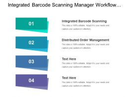 Integrated Barcode Scanning Manager Workflow Distributed Order Management