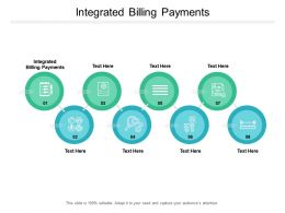 Integrated Billing Payments Ppt Powerpoint Presentation Infographics File Formats Cpb