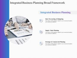 Integrated Business Planning Broad Framework Business Ppt Powerpoint Presentation Inspiration