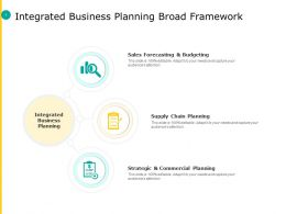 Integrated Business Planning Broad Framework Commercial Planning Ppt Slides