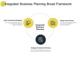 Integrated Business Planning Broad Framework Ppt Powerpoint Slides