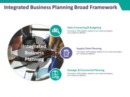 Integrated Business Planning Broad Framework Ppt Styles Structure